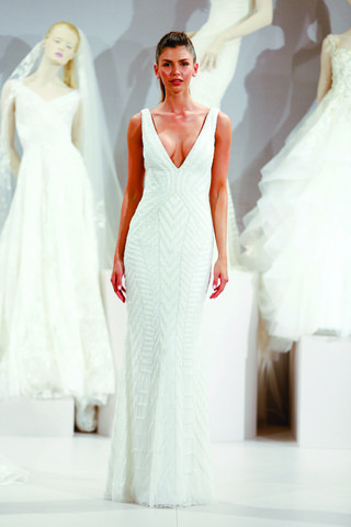 tony-ward-beaded-v-neck-sheath-wedding-dress