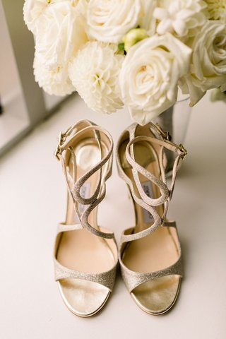 gold-jimmy-choo-wedding-shoes-with-strappy-details-and-glitter