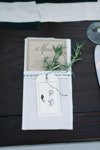 rustic-simple-menu-rosemary-calligraphy-tan-paper-fish-animation-blue-and-white-beach-wedding