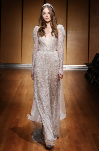 1715-blush-fully-v-neck-beaded-long-sleeve-cape-inbal-dror-wedding-gown