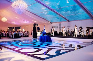custom-black-and-white-dance-floor-in-hexagon-pattern
