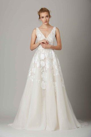 the-vineyard-ivory-wedding-dress-with-flower-motif-by-lela-rose-fall-winter-2016