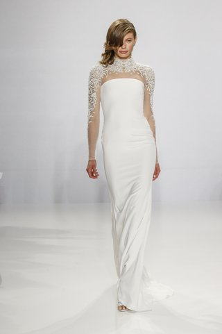 christian-siriano-for-kleinfeld-bridal-column-wedding-dress-with-embroidered-high-neck-long-sleeves