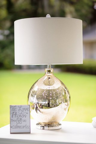 wedding-hashtag-and-instagram-sign-next-to-mercury-glass-lamp