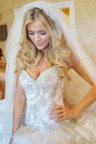 joanna-krupa-in-sweetheart-bridal-gown-with-ruffles-and-crystals