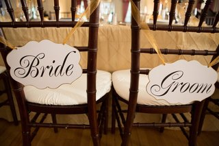 die-cut-signs-tied-to-reception-chairs-with-gold-ribbon