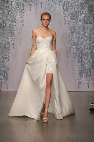 strapless-short-wedding-dress-with-overskirt