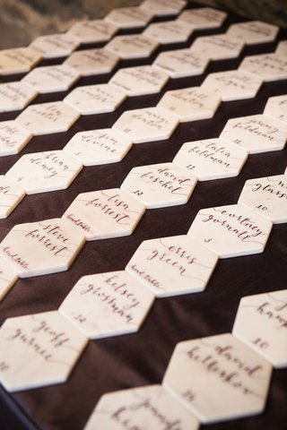 escort-card-modern-calligraphy-table-numbers-on-marble-hexagon-place-cards-wedding-favor-alternative