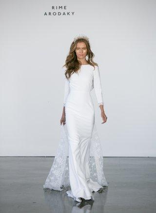 rime-arodaky-fall-2017-bridal-suki-long-sleeve-crepe-wedding-dress-with-removable-embroidered-train
