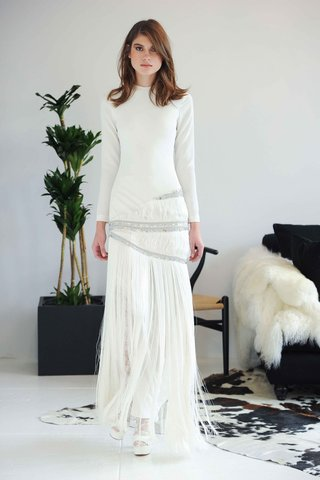 long-sleeve-wedding-dress-with-fringe-skirt-and-beads-by-houghton-fall-2016