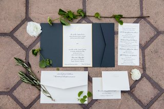 classic-blue-white-gold-invitation-suite-wedding-calligraphy