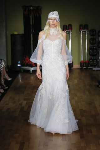 rivini-fall-2018-high-neck-fit-and-flare-gown-with-modern-bishop-sleeves-hand-applied-beaded-lace