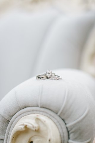plain-white-gold-band-for-groom-oval-diamond-halo-engagement-ring-two-eternity-bands