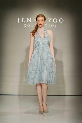 jenny-yoo-bridesmaids-2016-blue-flower-print-halter-bridesmaid-dress