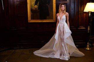 berta-bridal-fall-winter-2016-wedding-dress-deep-v-small-strap-with-organza-overskirt-horsehair\