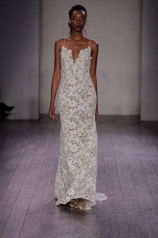 hayley-paige-2016-flower-motif-lace-wedding-dress-with-spaghetti-straps-and-plunging-neckline