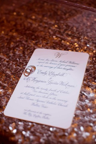 classic-invitation-sequined-linen-calligraphy-traditional-dallas-wedding-marriage-of-their-daughter