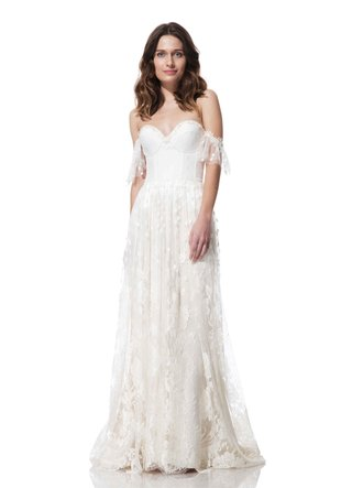 olia-zavozina-fall-winter-2016-sheath-wedding-dress-with-off-the-shoulder-straps