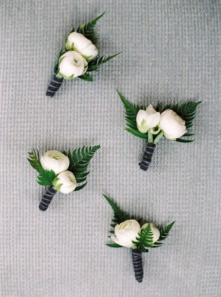 two-peony-bud-flower-boutonniere-with-fern-leaves-and-velvet-wrap-ribbon