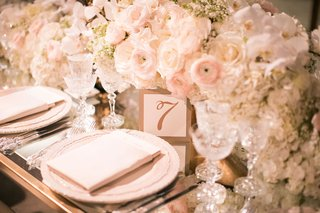 wedding-reception-flower-centerpiece-runner-delicate-place-settings