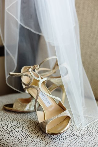 brides-strappy-gold-jimmy-choo-pumps