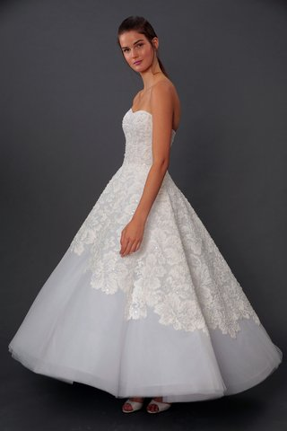 isabelle-armstrong-fall-2019-bridal-collection-wedding-dress-cleo-tea-length-tulle-ball-gown-lace