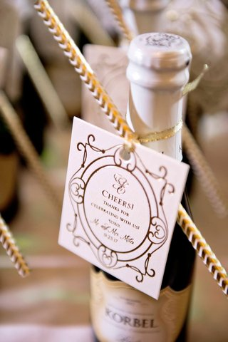 wedding-favor-miniature-bottle-of-korbel-champagne-with-tag-and-straw-cheers-thanks-for-celebrating