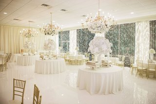 ballroom-white-and-gold-wedding-reception-decor-white-flower-arrangements-gold-chairs-chandeliers