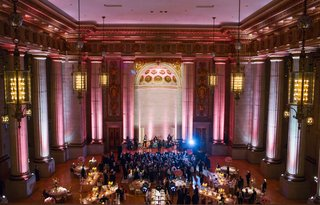 the-source-band-for-elan-artists-play-at-a-pink-wedding-reception-at-andrew-w-mellon-auditorium
