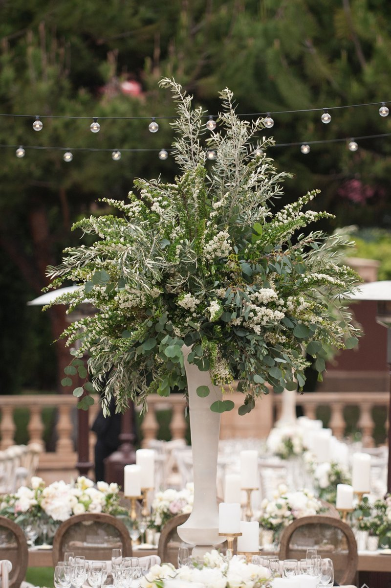 Tall Centerpiece of Greenery