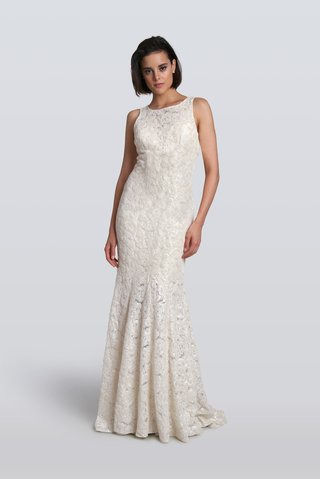 carmen-marc-valvo-fall-2018-embellished-lace-sheath-wedding-dress