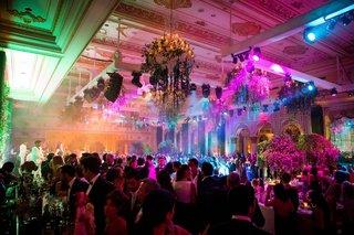 wedding-reception-bright-lighting-purple-blue-yellow-green-wedding-bar-live-band-revelery