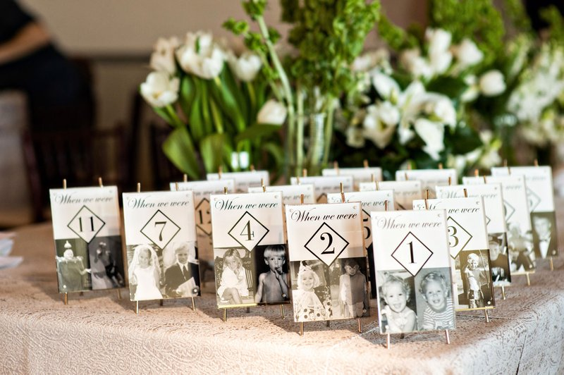 Personalized Photo Table Numbers