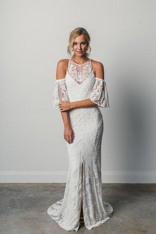 fernandez-by-grace-loves-lace-elixir-cold-shoulder-lace-wedding-dress-chevron-design