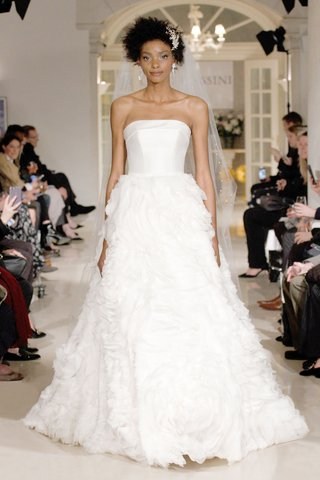 oleg-cassini-fall-2018-bridal-collection-spring-2019-wedding-dress-strapless-gown-rose-ruffle-skirt