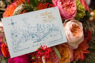 place-card-with-map-placed-on-pink-flowers