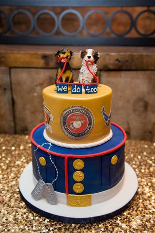 two-layer-wedding-cake-with-dog-topper