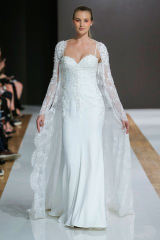 mark-zunino-spring-2018-wedding-dress-spaghetti-strap-bridal-gown-with-long-sleeve-lace-jacket