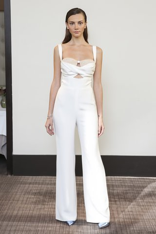 gracy-accad-fall-2018-4-ply-silk-jumpsuit-draped-cutout-midriff-with-lace-bustier-inset