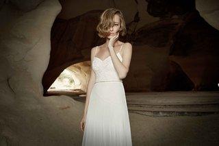 limor-rosen-2017-yasmin-wedding-dress-v-neck-spaghetti-straps-chiffon-skirt-tribal-collection