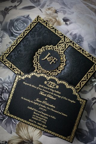 black-and-gold-wedding-invitation-suite-black-floral-pattern-invitation-with-gold-trim