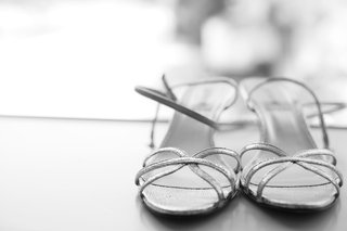 black-and-white-photo-of-strap-wedding-shoes