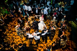 aerial-view-of-dance-floor-with-patterned-lighting
