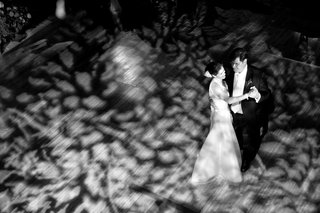 black-and-white-picture-of-aerial-first-dance-view
