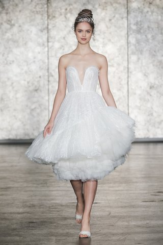 inbal-dror-fall-2018-strapless-fully-sequined-tulle-ballerina-dress-short-asymmetric-can-can-hem