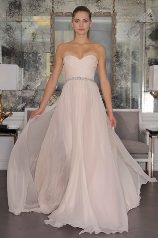 romona-keveza-luxe-bridal-fall-2016-strapless-pink-wedding-dress