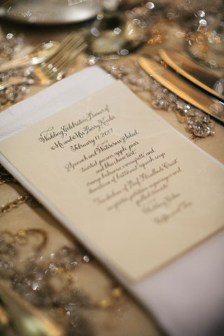 wedding-menu-spinach-and-watercress-salad-and-additional-selections-calligraphy-menu-card-design
