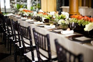 rectangular-table-with-wood-box-filled-with-flowers