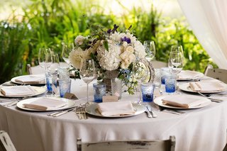 rustic-wedding-centerpiece-with-vintage-mirror-and-simple-centerpiece