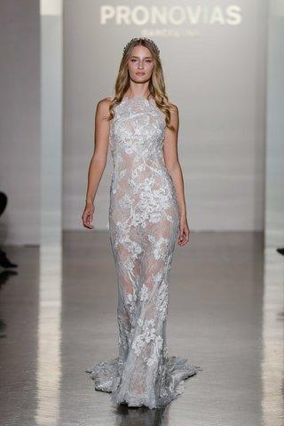 pronovias-2017-nesta-illusion-sheath-high-neckline-lace-embroidery-wedding-dress